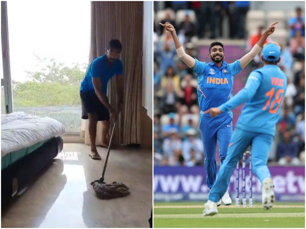 Amid the COVID-19 lockdown, Jasprit Bumrah is cleaning his house!