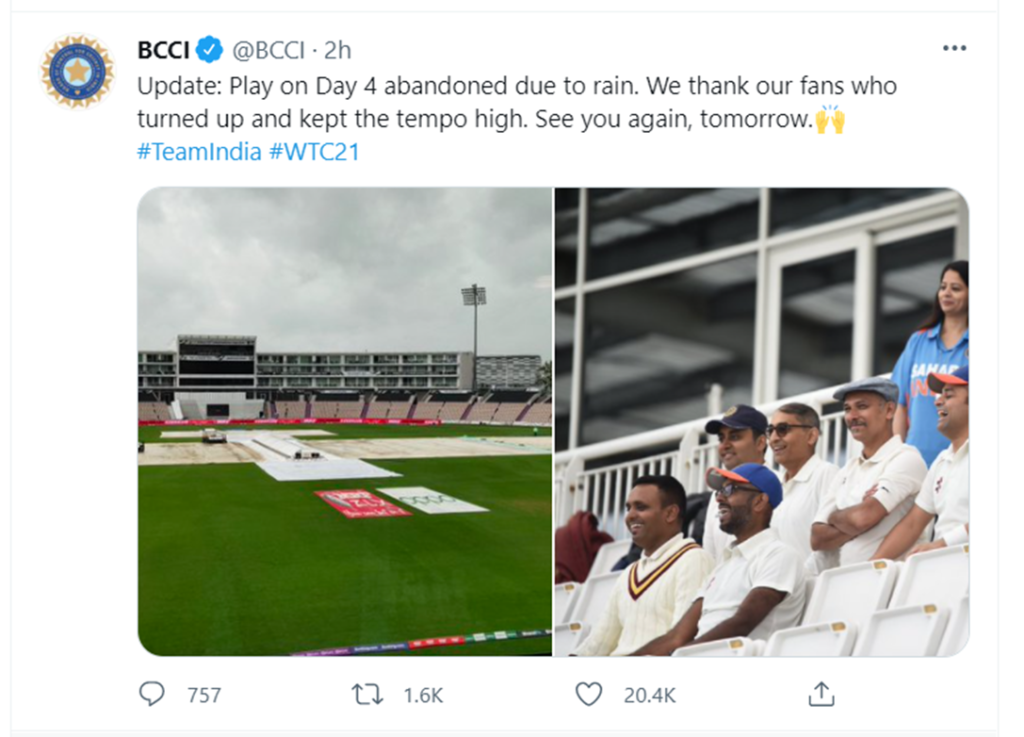 Play on Day 4 gets abandoned