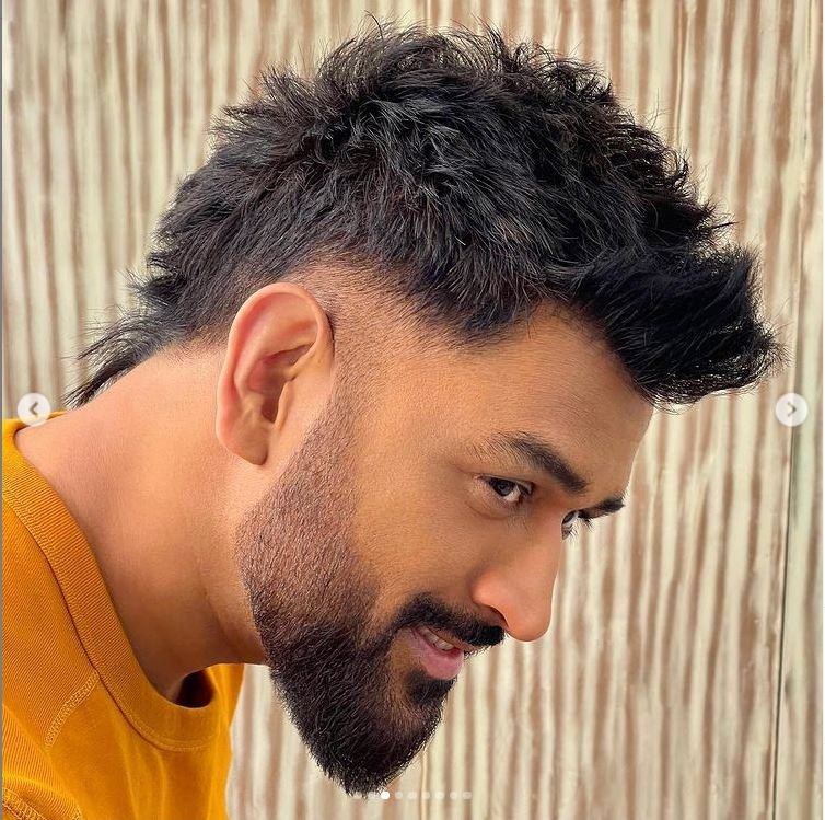 MS Dhoni new look