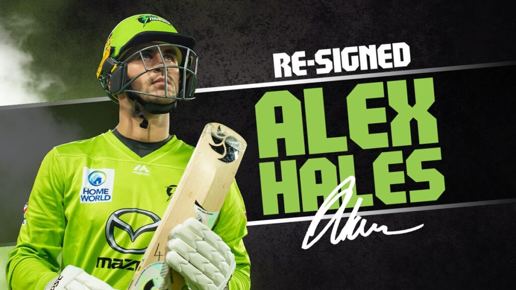 BBL 2021: Alex Hales re-signs with Sydney Thunder for the 11th edition of the League