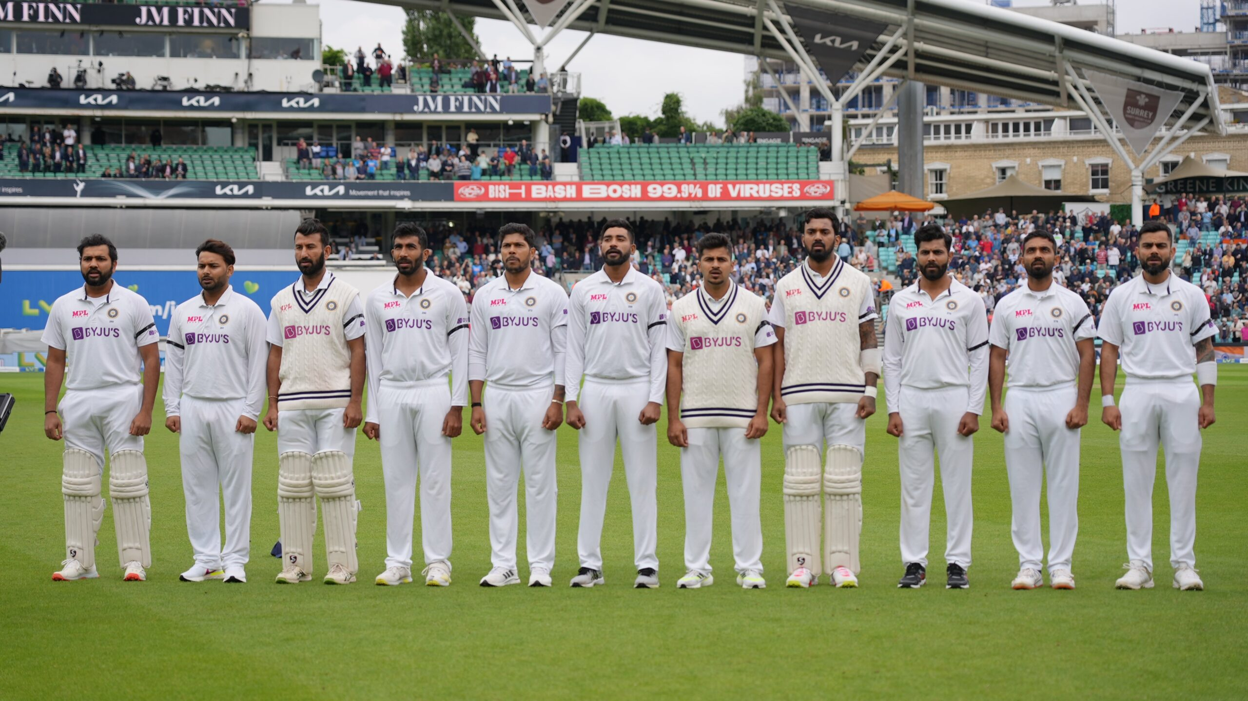 IND vs ENG 4th Test 2021: Team India wear black armbands in the honor of Late Vasudev Paranjape